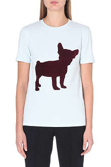 ETRE CECILE Flocked dog print t-shirt