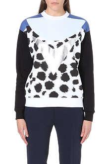 ETRE CECILE Cheetah-print cotton-jersey sweatshirt