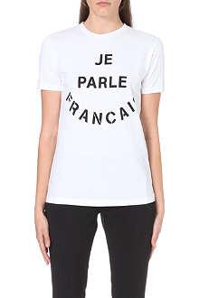 ETRE CECILE Je Parle Francais cotton-jersey t-shirt