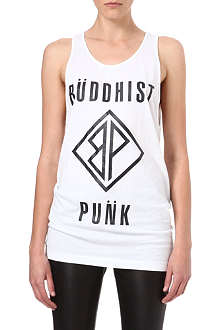 BUDDHIST PUNK Text cotton vest