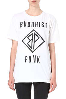 BUDDHIST PUNK Text cotton t-shirt