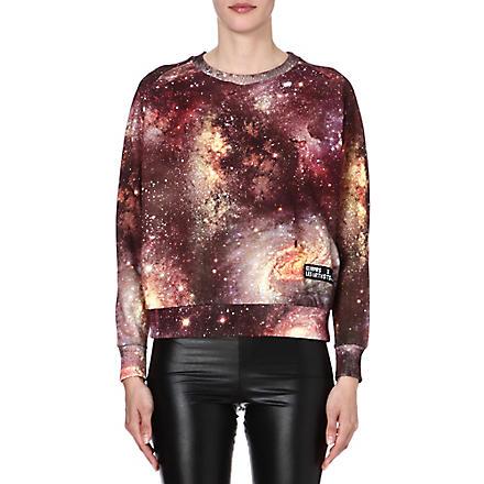 ELEVEN PARIS Cosmic-print jersey sweatshirt (Multi
