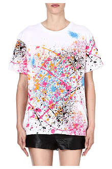 ELEVEN PARIS Splatter-print cotton t-shirt