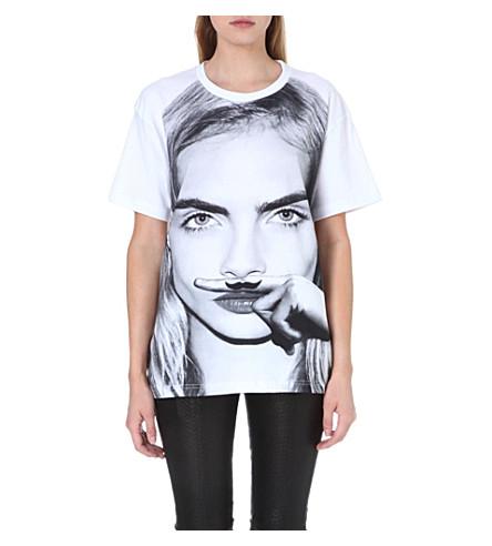 ELEVEN PARIS Cara moustache t-shirt (White