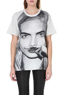 ELEVEN PARIS Cara moustache t-shirt