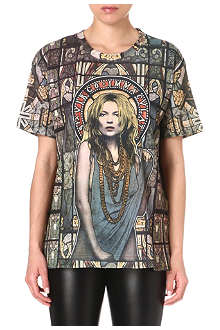 ELEVEN PARIS Moss stained glass t-shirt