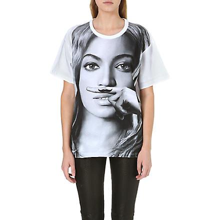 ELEVEN PARIS Beyoncé moustache t-shirt (White