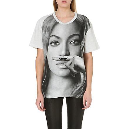 ELEVEN PARIS Beyoncé moustache t-shirt (Grey