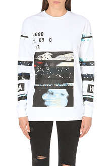 HOOD BY AIR Graphic print top