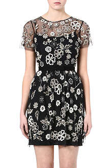 NEEDLE AND THREAD Floral-embellished dress