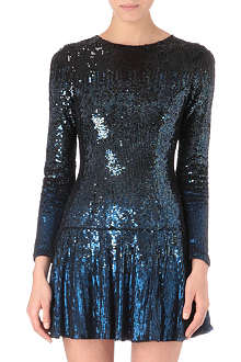 NEEDLE AND THREAD Gloss sequinned mini dress