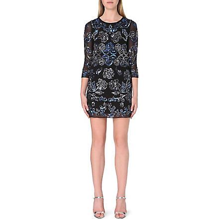 NEEDLE AND THREAD Empress mini dress (Black/blue