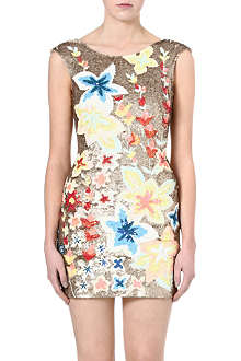 NEEDLE AND THREAD Wild Meadow sequinned dress