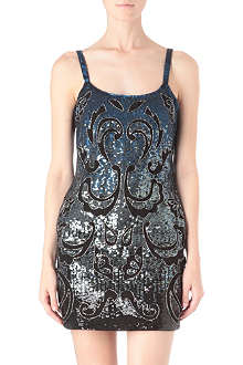 NEEDLE AND THREAD Etch sequinned mini dress