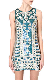 NEEDLE AND THREAD Sunstone embellished dress