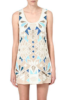 NEEDLE AND THREAD District embellished dress