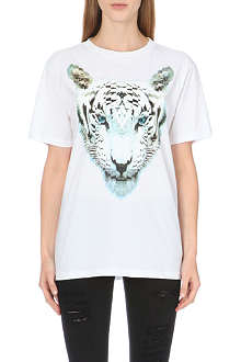 MARCELO BURLON Tiger-print cotton-jersey t-shirt