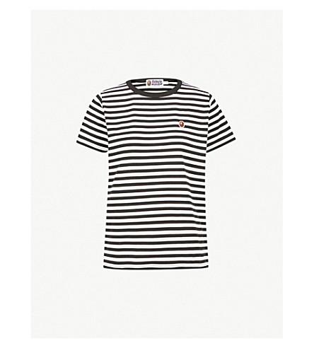 BAPE Ape head striped cotton-jersey T-shirt (Black