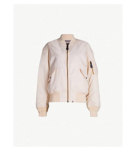 BAPE Shark Wide MA-1 padded-shell jacket (Pink