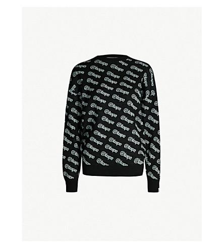 BAPE Logo-patterned wool-blend jumper (Black