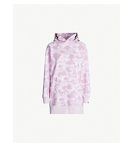 BAPE Camouflage-print cotton-blend hoody (Pink