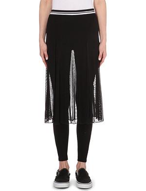 MUSIUM Mesh-overlay leggings