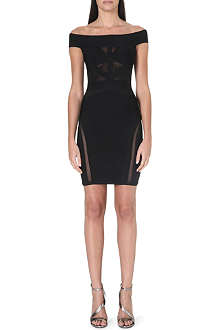 CELEB BOUTIQUE Antoinette off-the-shoulder bandage dress