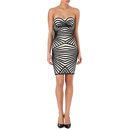 CELEB BOUTIQUE Aysha strapless jersey dress (Black/nude