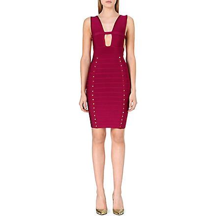 CELEB BOUTIQUE Studded bandage dress (Purple