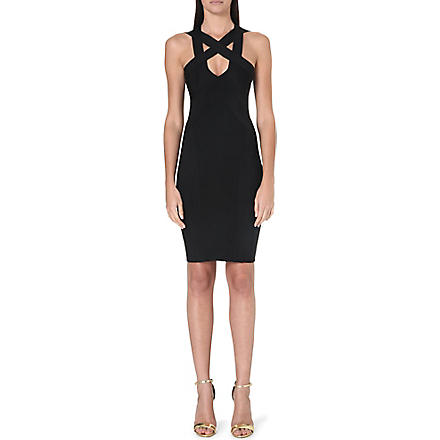 CELEB BOUTIQUE Finia cross-over bandage dress (Black
