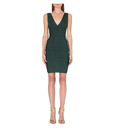CELEB BOUTIQUE Jenna bodycon bandage dress (Evergreen