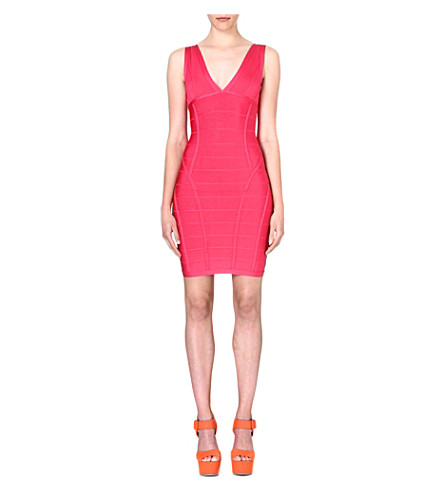 CELEB BOUTIQUE Jenna bodycon bandage dress (Fuchsia