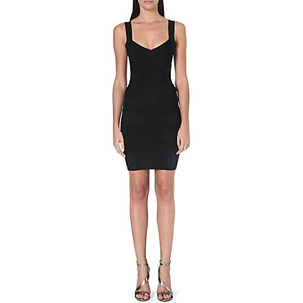 CELEB BOUTIQUE Jennifer cross-back bandage dress (Black