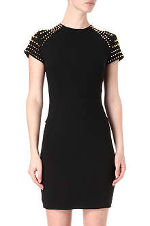 CELEB BOUTIQUE Studded satin-jersey dress