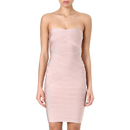 CELEB BOUTIQUE Lelya strapless bodycon dress (Nude