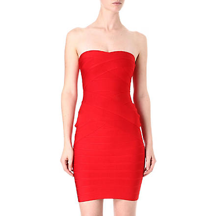 CELEB BOUTIQUE Sweetheart neckline bandage dress (Red