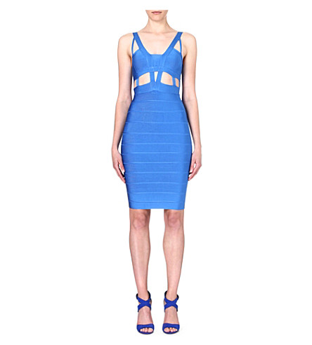 CELEB BOUTIQUE Mara cut-out bandage dress (Blue