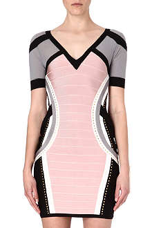 CELEB BOUTIQUE Pippa panelled bandage dress