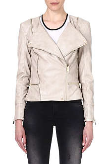 CELEB BOUTIQUE Serena leatherette biker jacket