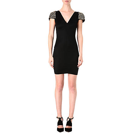 CELEB BOUTIQUE Embellished shoulder dress (Black