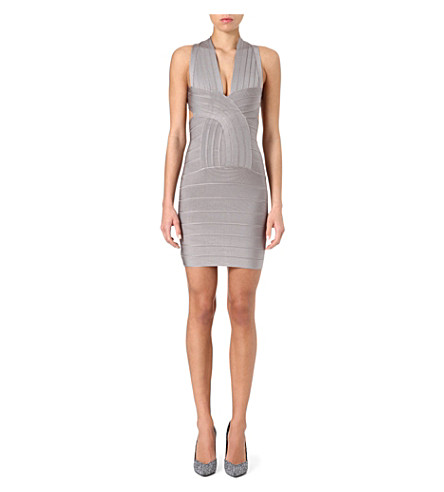CELEB BOUTIQUE Vanessa cross-over bandage dress (Grey