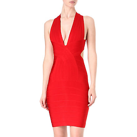 CELEB BOUTIQUE Cross-over bandage dress (Red