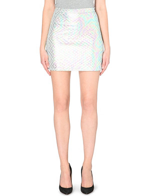JADED LONDON Metallic quilted skirt