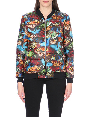 JADED LONDON Butterfly-print quilted bomber jacket