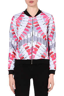 JADED LONDON Red Lipstick bomber jacket