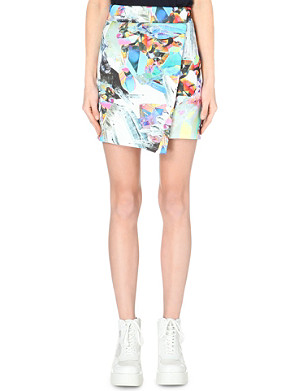 JADED LONDON Jewelled neoprene skirt
