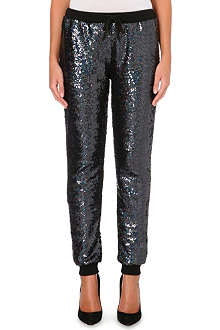JADED LONDON Holographic sequin jogging bottoms