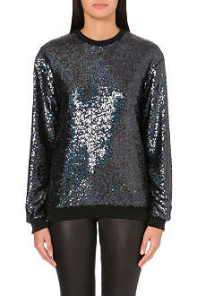 JADED LONDON Holographic sequin sweatshirt