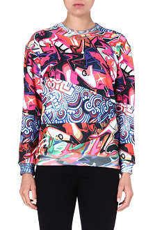 JADED LONDON Grafitti-print sweatshirt
