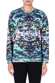 JADED LONDON Sequin-print sweatshirt
